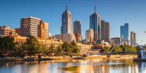 Stunning skyline shot of Melbourne a great city for cushions