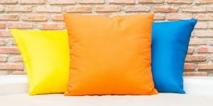 Simple cushions used to decorate on a budget