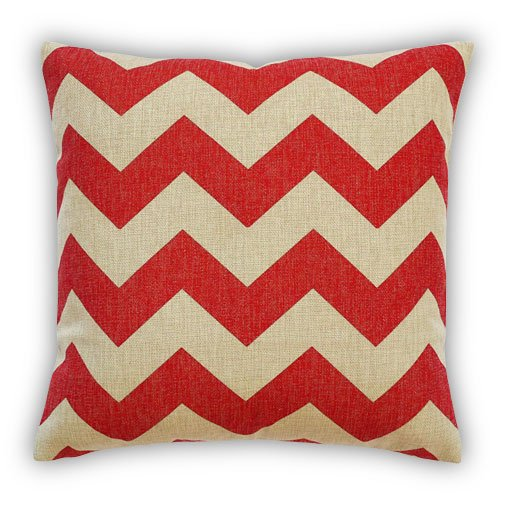 Zig Zag Red Cushion Cover : Australia : Simply Cushions