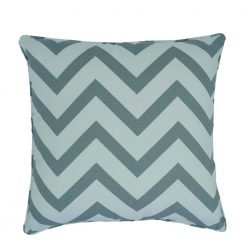 White and grey chevron cushion cover