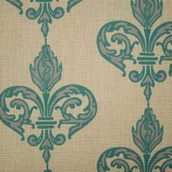 Close up of turquoise pattern on cushion