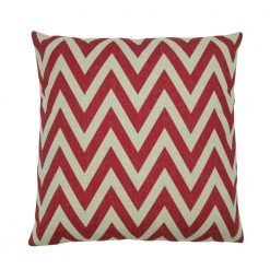 Deep red zigzag chevron cushion cover