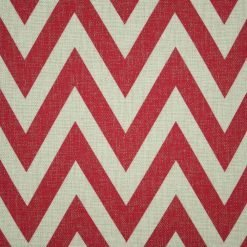 Close up of red chevron cushion