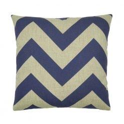 Deep blue chevron zig zag cushion cover