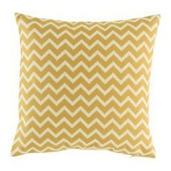 Yellow zig zag chevron cushion cover