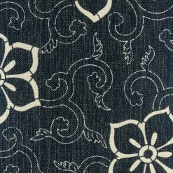 Zoomed in view of light flowers on navy background