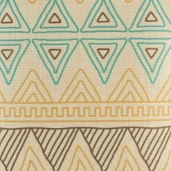 Close up of geometric shapes on cushion cover