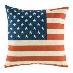 Cushion cover with American flag print