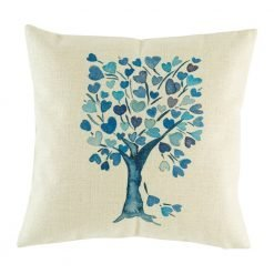 Gorgeous blue tree on cushion cover