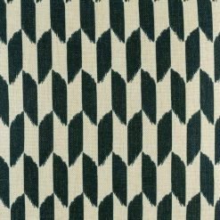 Close view of dark checkered pattern on cushion