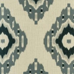 Zoomed in view of cushion cover showing dark and light grey diamond pattern