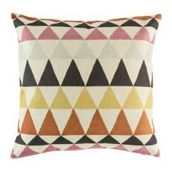 Brown cushion cover with diamond pattern