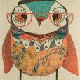 Coby Owl Cushion Cover Close Up SC113