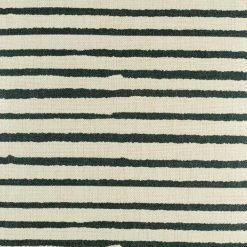 Close up of black stripe pattern on cushion cover