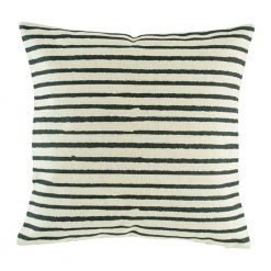 Cushion cover with black stripe horizontal pattern