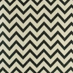Small black zig zag design on cushion cover