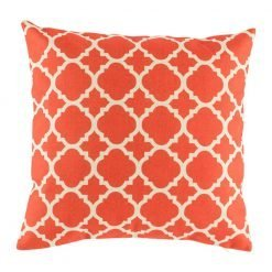 Bright red funky cushion cover with pattern