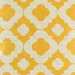 Bright yellow pattern on cushion cover
