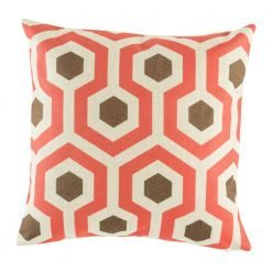 Funky cushion cover with bold retro colours