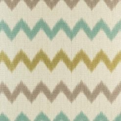 Close up of colourful zig zag cushion cover