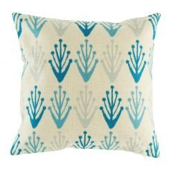 Blue patterns on a cushion cover