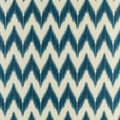 Close up of blue zig zag cushion cover