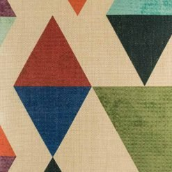 Zoomed in view of abstract design of cushion cover