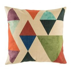 Very funky cushion cover with abstract triangle pattern