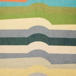 Close up of striped coloured cushion