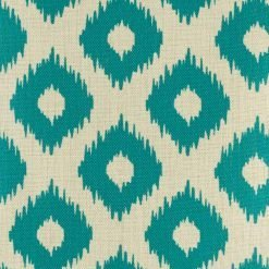 Close up showing cascading teal diamond pattern
