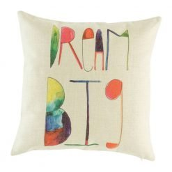 Light coloured cushions cover with words dream big on it