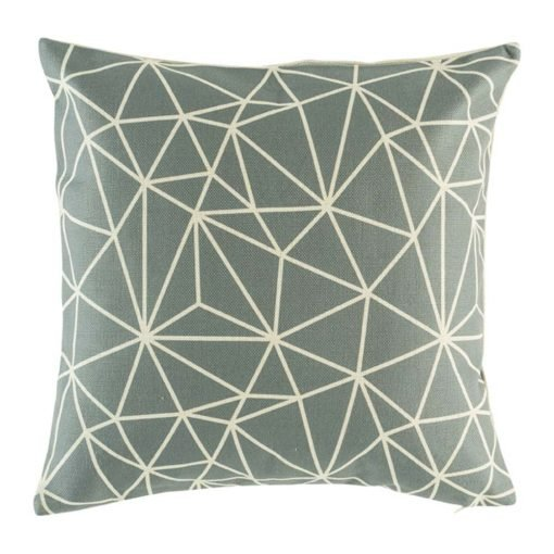 Grey cushion cover with modern scandanavian design