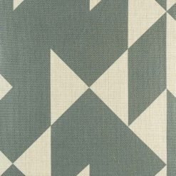 Close up view of grey triangle cushion Scandinavian design