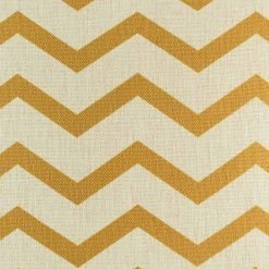 Magnified section of gold chevron cushion cover