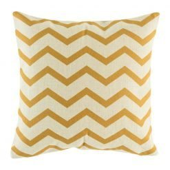 Cushion cover with gold chevron front