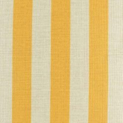 Close view of yellow stripes on cushion cover