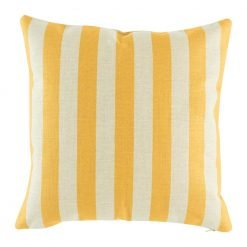 Bold yellow striped cushion cover