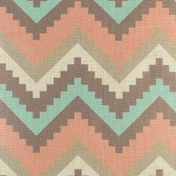 Close up of soft toned chevron cushion cover