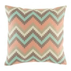 Pink, purple and light blue chevron zig zag cushion cover