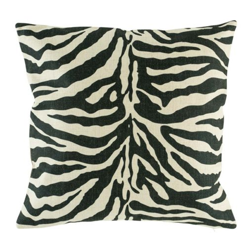 Cushion cover with wild zebra print