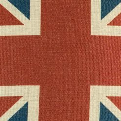 Close up of union jack cushion cover