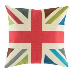 Bold coloured union jack with vintage colours