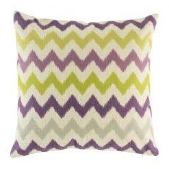 Green and purple zig zag chevron cushion cover