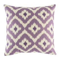 Bold purple pattern on cushion cover