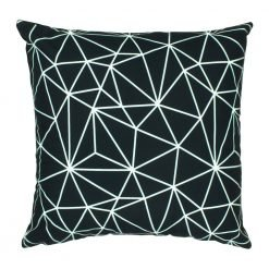 Black and white modern lines velvet cushion cover