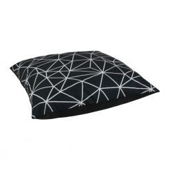 Black and white floor velvet cushion cover