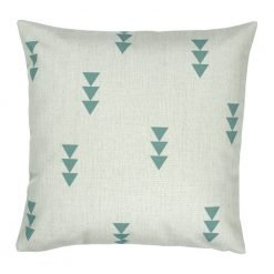 Square outdoor cotton linen cushion with arrow design