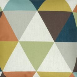 Close up of triangle pattern outdoor cotton linen cushion
