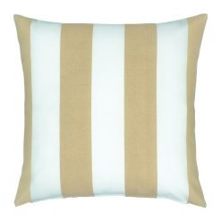 Beige striped cushion for outdoor setting