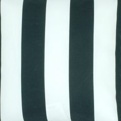 black and white striped spun poly outdoor cushion cover